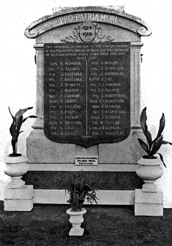 rood end memorial at dallow